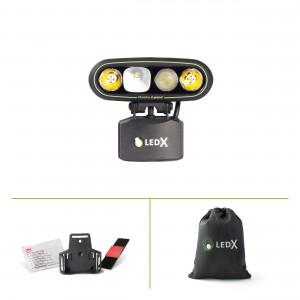 LEDX Mamba 4000 X-pand - hjälmlampa enduro