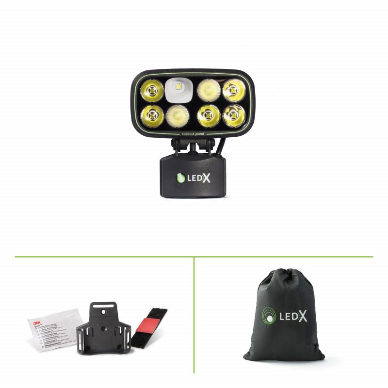 Hjälmlampa LEDX Cobra 6500 (utan batteri)