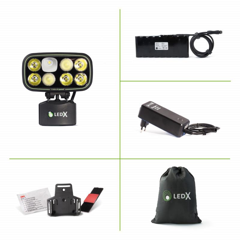 Hjälmlampa LEDX Cobra 6500 för mtb, cykel, ridning, arbete, enduro och skoter