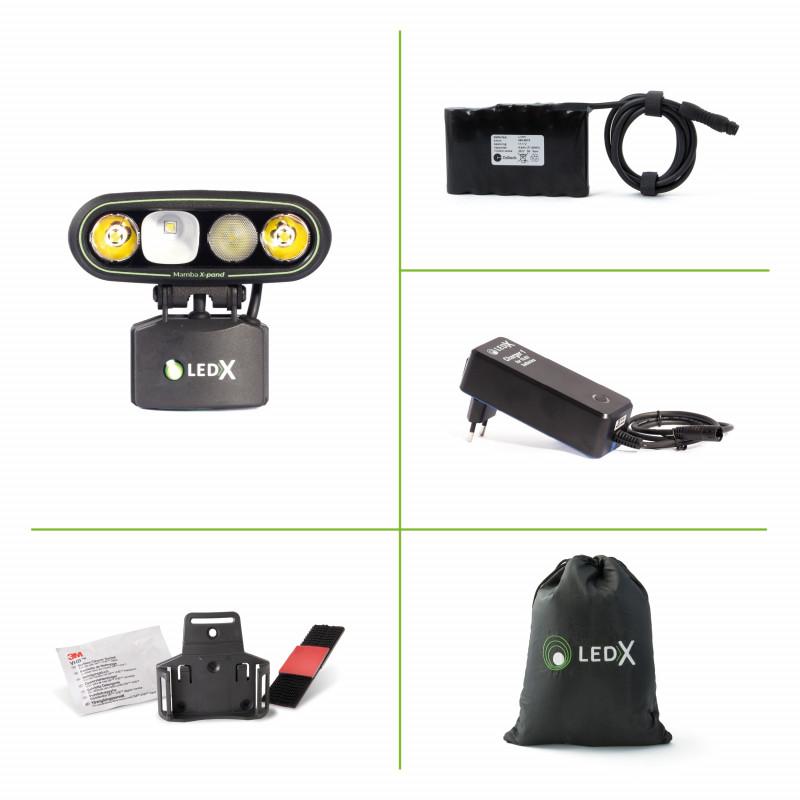 LEDX Mamba 4000 X-pand - hjälmlampa MTB