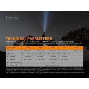 FENIX FICKLAMPA PD40R 3000 LUMEN